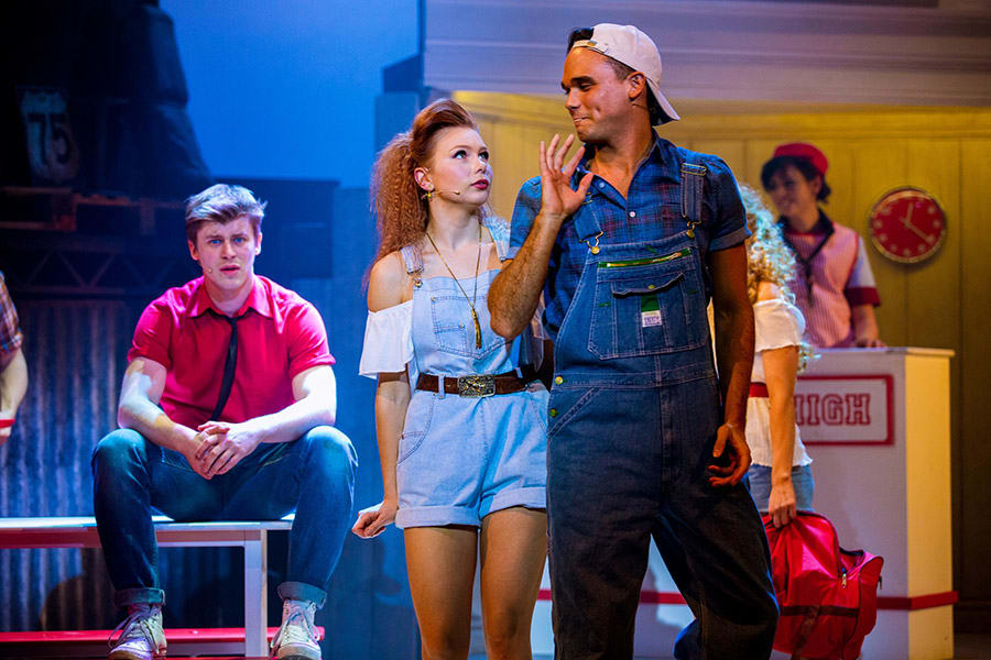 Gareth Gates as Willard in Footloose (Photo: Matt Martin)