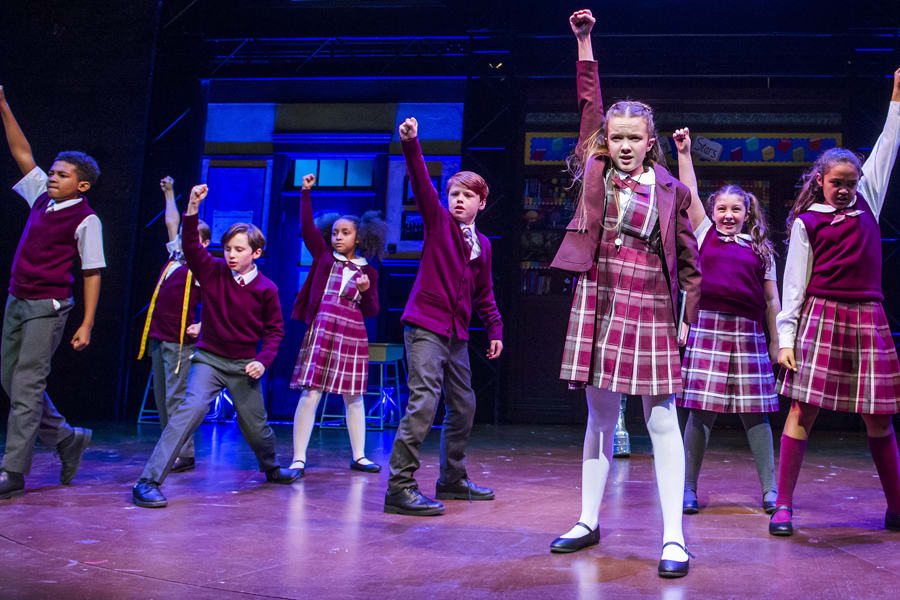 The kids from School Of Rock (Photo by Tristram Kenton)