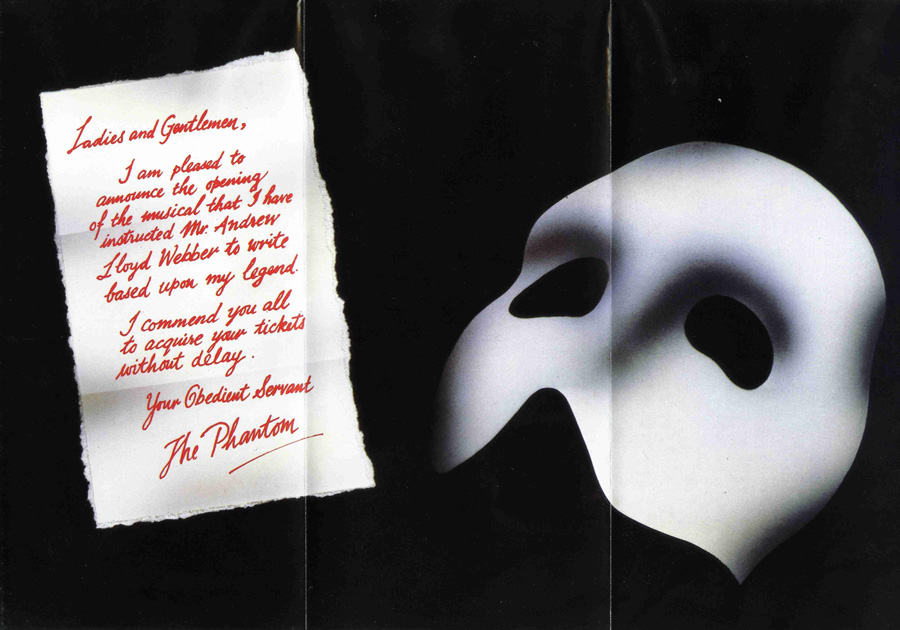 9_Phantom Leaflet Announcing Opening Of Show - Her Majesty's Theatre, May1986