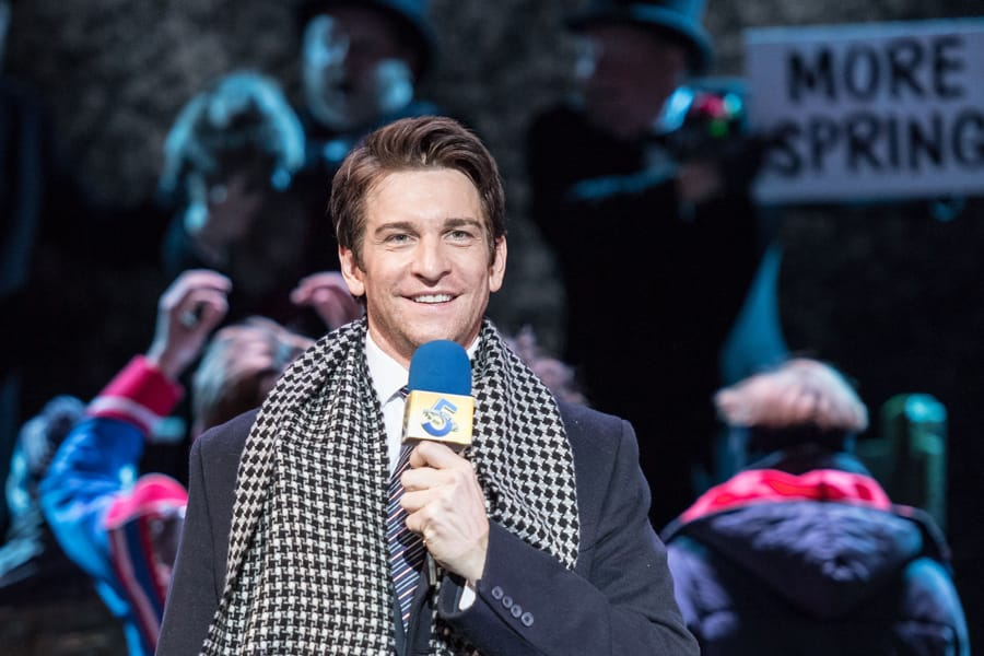 Andy Karl (Phil Connors) in Groundhog Day (Photo: Manuel Harlan)