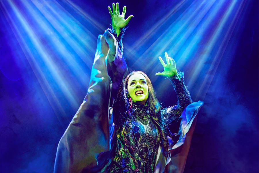 Rachel Tucker as Elphaba in Wicked. (Photo: Matt Crocket)