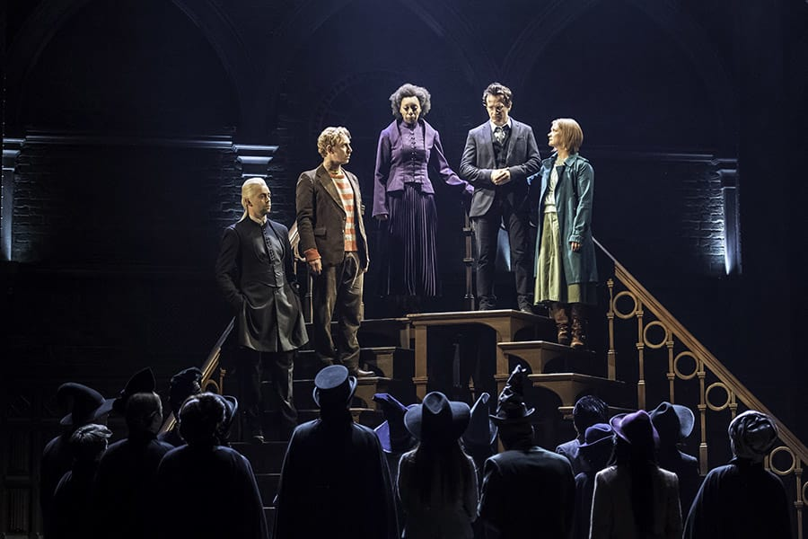 Alex Price, Paul Thornley, Noma Dumezweni, Jamie Parker and Poppy Miller in Harry Potter And The Cursed Child at the Palace Theatre (Photo: Manuel Harlan)