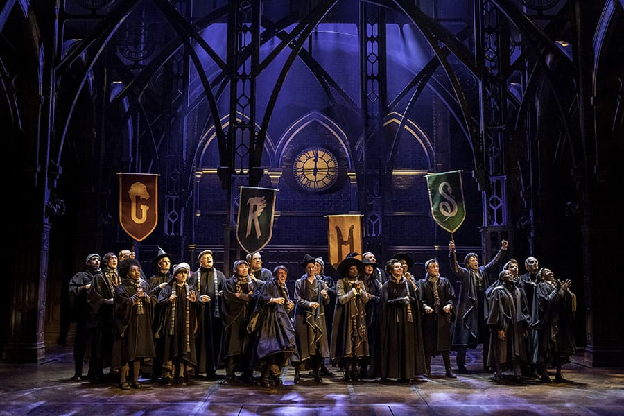 The cast of Harry Potter And The Cursed Child at the Palace Theatre (Photo: Manuel Harlan)