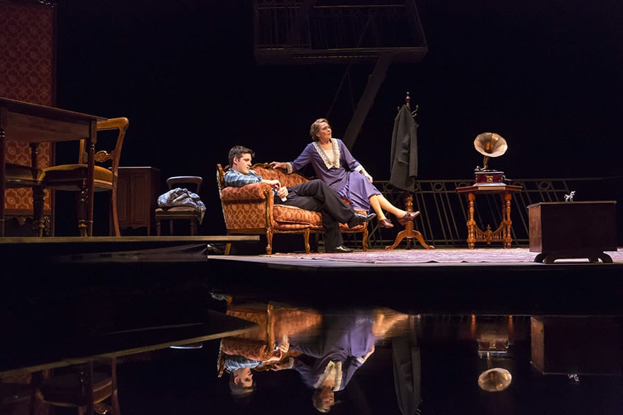 Michael Esper and Cherry Jones in The Glass Menagerie at the Edinburgh International Festival (Photo: Johan Persson)