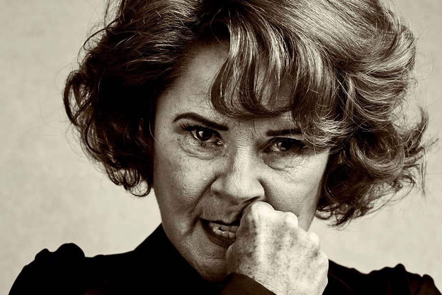 Imelda Staunton plays Martha in Edward Albee's Who's Afraid Of Virginia Woolf? (Photo: Charlie Gray)