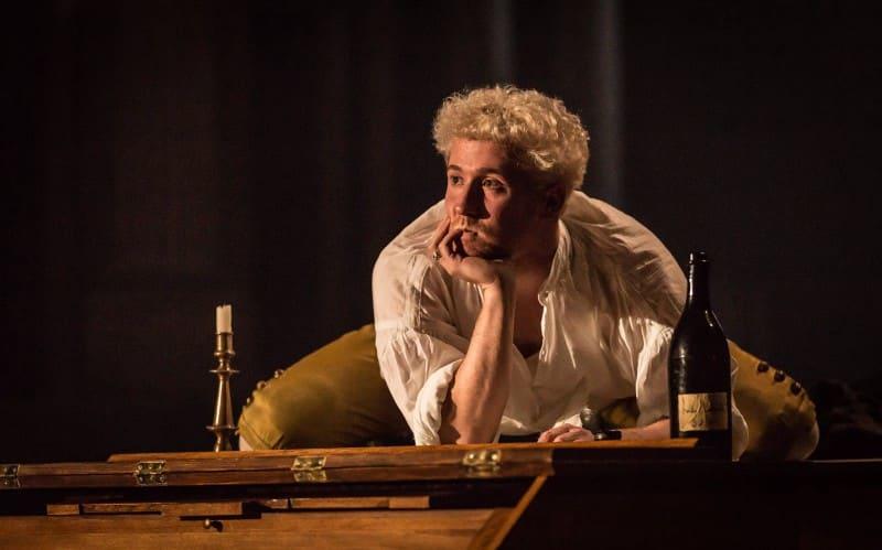 Adam Gillen as Mozart in Amadeus