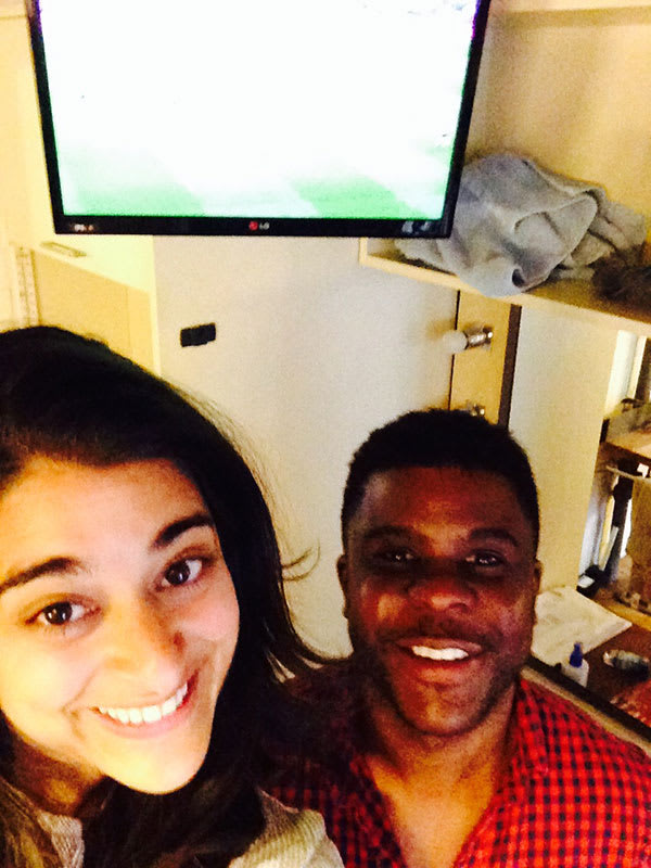 Managing to watch some football with lovely Ashley Zhangazha