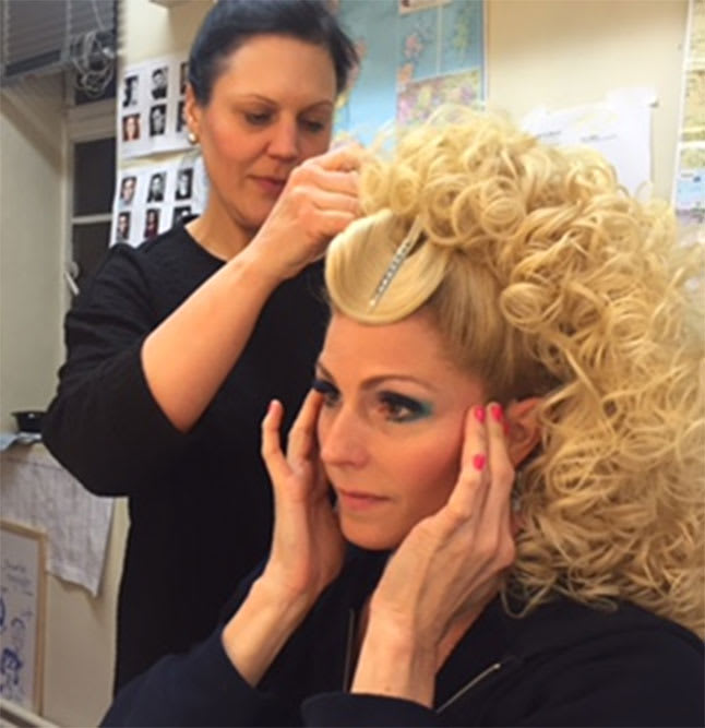 Rebecca Thornhill in wigs