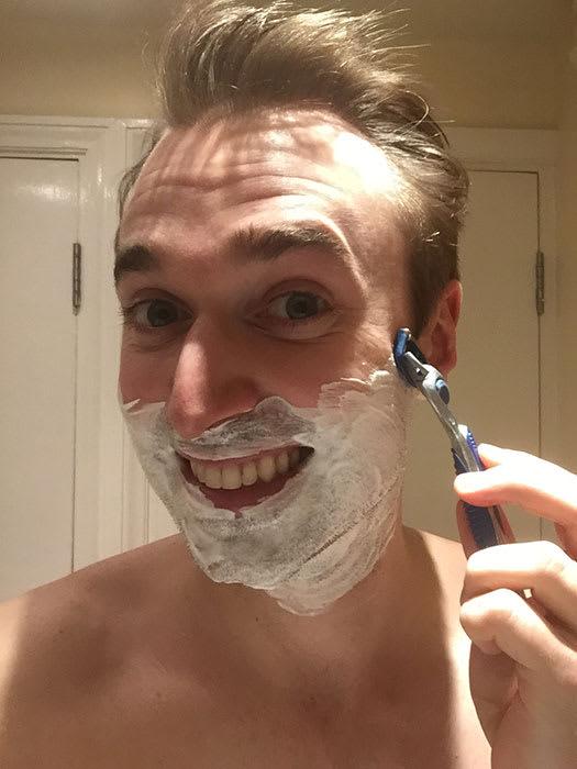 Dayle Hodge - shaving