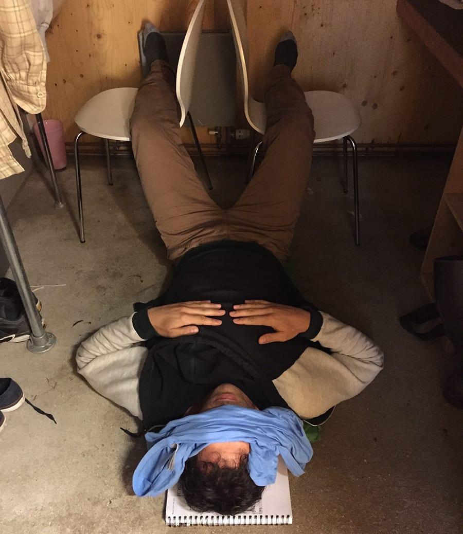 Alex Gaumond: Half hour power nap after the first show.