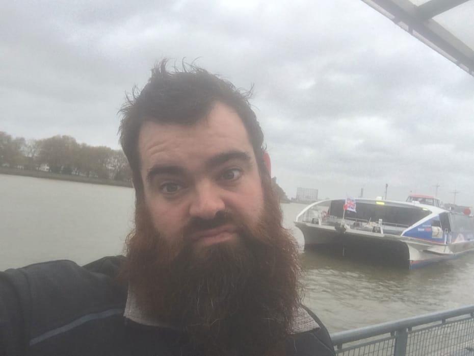 Dean Nolan on his river commute