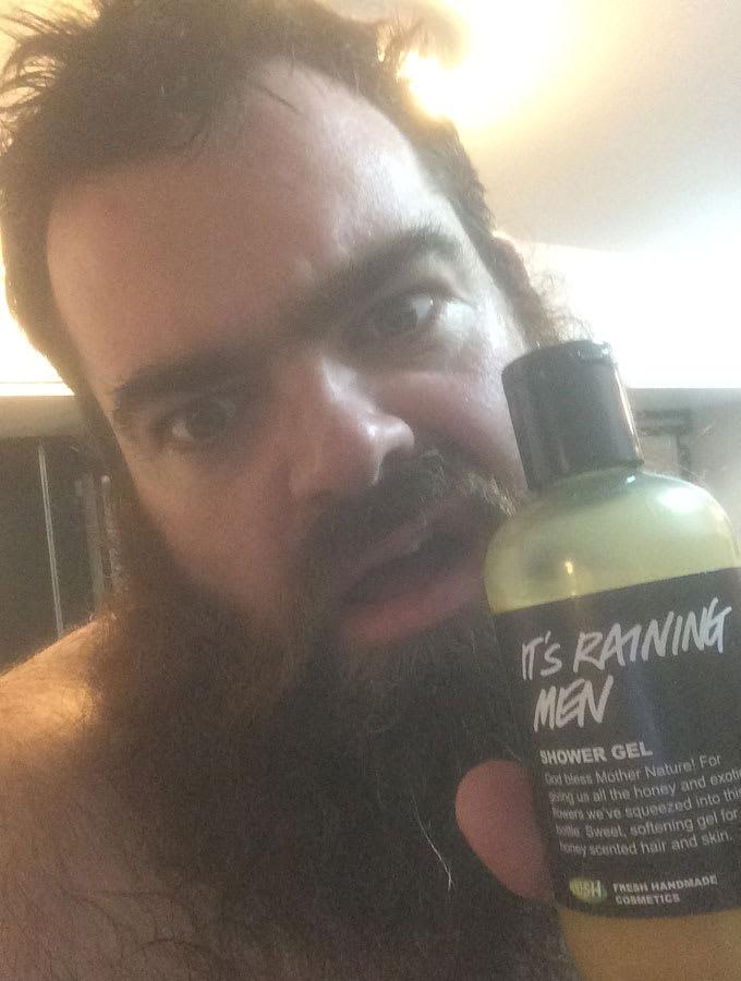 Dean Nolan prepares for a shower