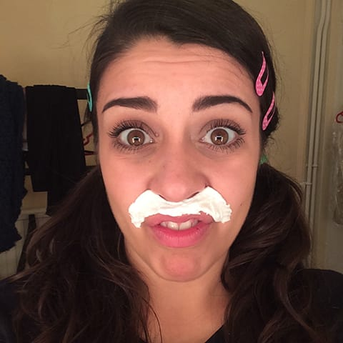 A Day In The Life Of The Play That Goes Wrong: Last minute 'tache bleach before the show