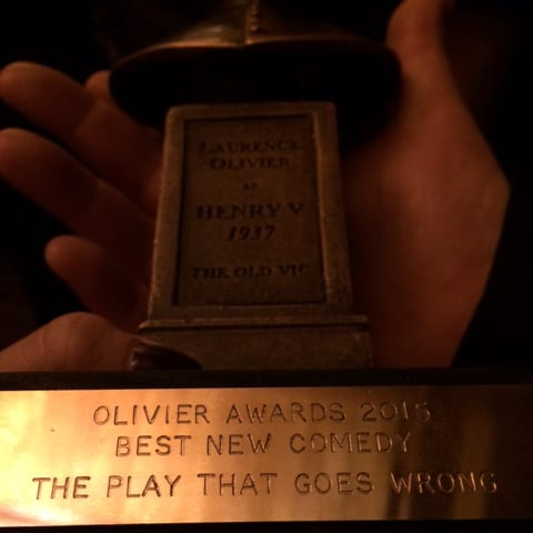 A Day In The Life Of The Play That Goes Wrong: Our Olivier Award