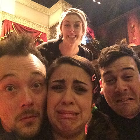 A Day In The Life Of The Play That Goes Wrong: Pre-show beginners team