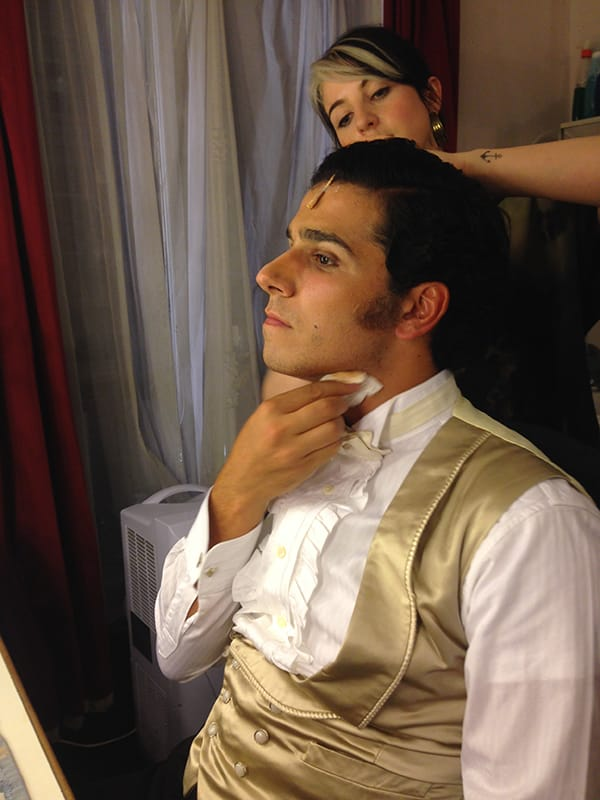 Liam Tamne gets spruced up before Act 2