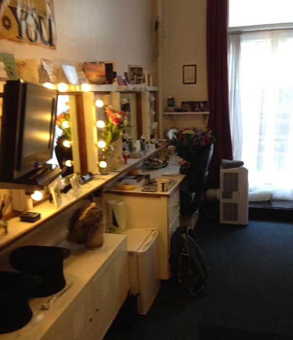 Liam Tamne's dressing room