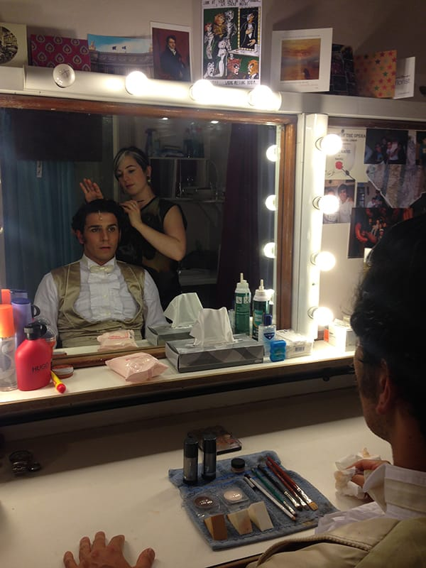 Liam Tamne prepares to perform in The Phantom Of The Opera