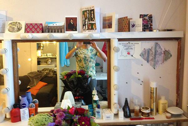 Liam Tamne's card-decorated mirror