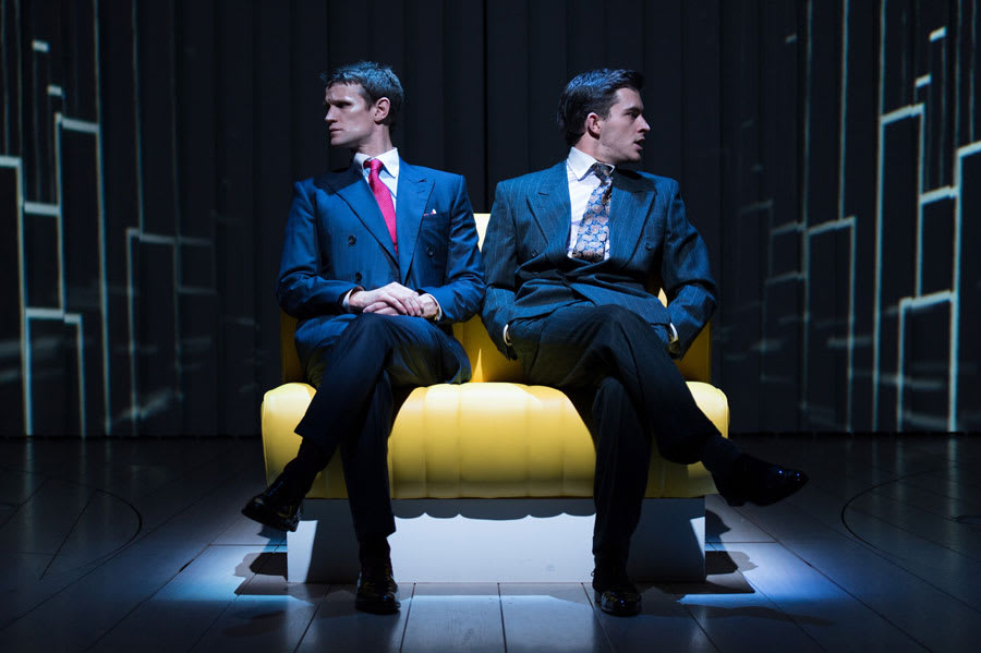 Matt Smith and Jonathan Bailey in American Psycho, the musical playing at the Almeida theatre (Photo: Manuel Harlan)