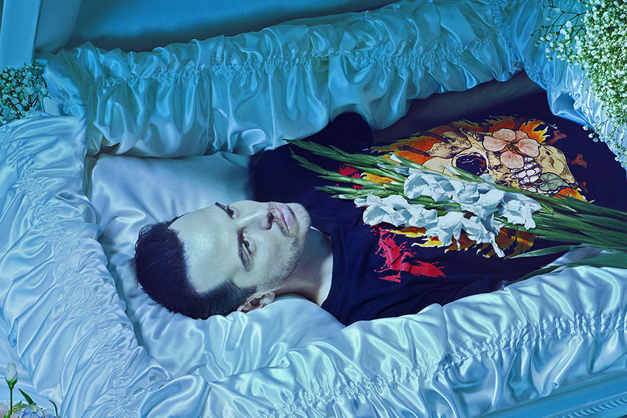Andrew Scott in Hamlet at the Almeida Theatre (Photo: Miles Aldridge)