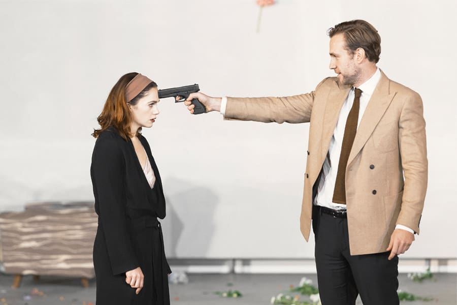 Ruth Wilson and Rafe Spall in Hedda Gabler (Photo: Jan Versweyveld)
