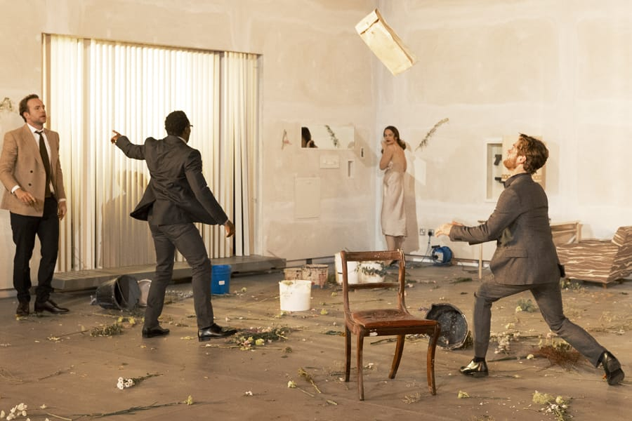 Rafe Spall,Chukwudi Iwuj, Ruth Wilson and Kyle Soller in Hedda Gabler (Photo: Jan Versweyveld)