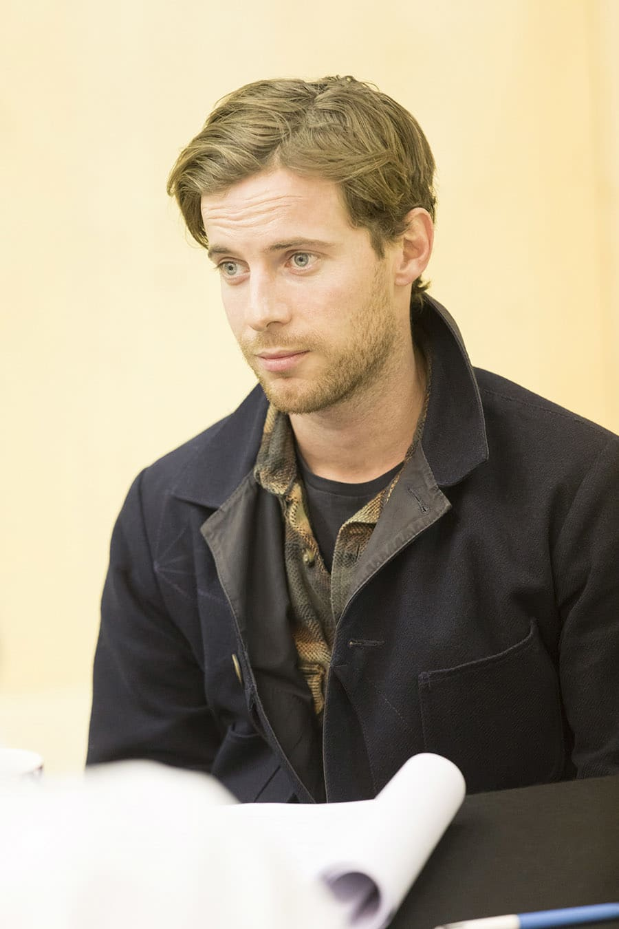 Luke Treadaway rehearses Edward Albee's Who's Afraid of Virginia Woolf? (Photo: Johan Persson)
