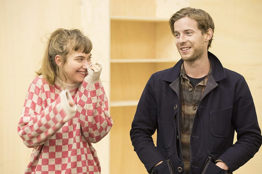 Imogen Poots and Luke Treadaway rehearse Edward Albee's Who's Afraid Of Virginia Woolf? (Photo: Johan Persson)