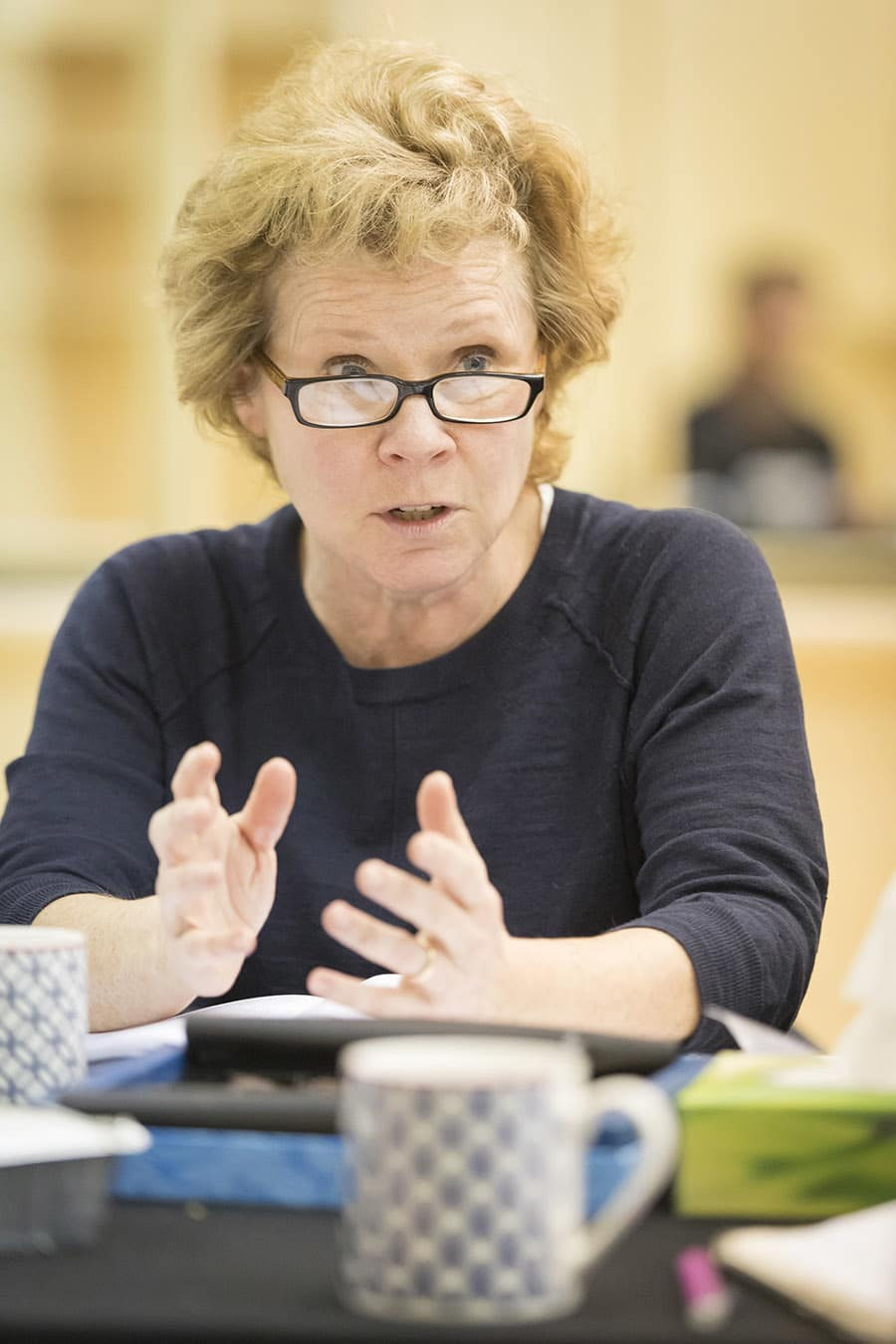 Imelda Staunton rehearses Edward Albee's Who's Afraid of Virginia Woolf? (Photo: Johan Persson)