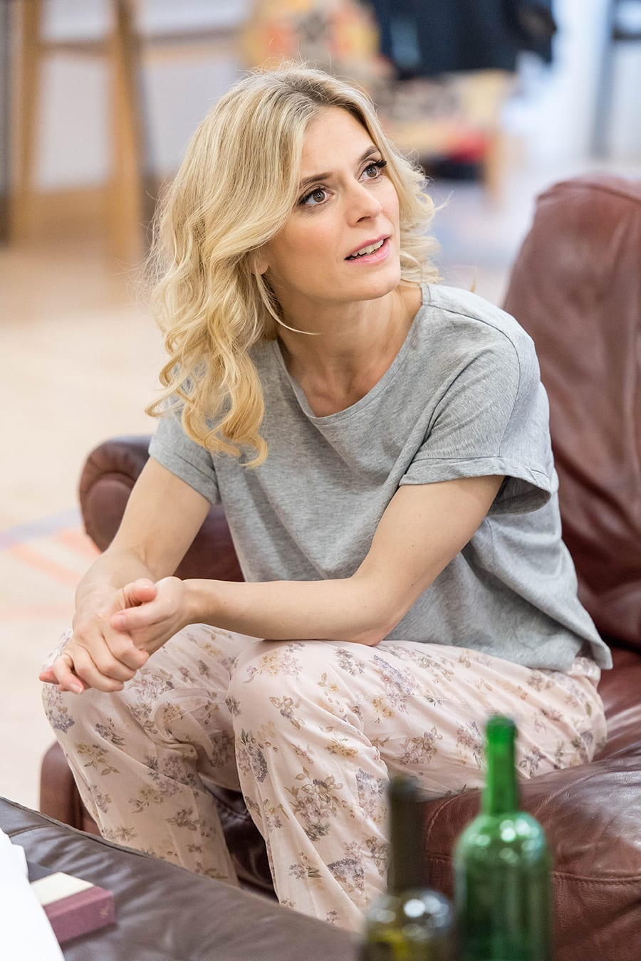 Emilia Fox in rehearsal for Sex With Strangers at the Hampstead Theatre (Photo: Manuel Harlan)