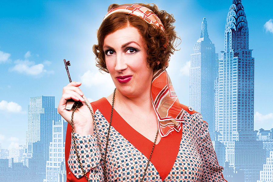 Miranda Hart as Miss Hannigan in Annie (Photo: Matt Crockett)