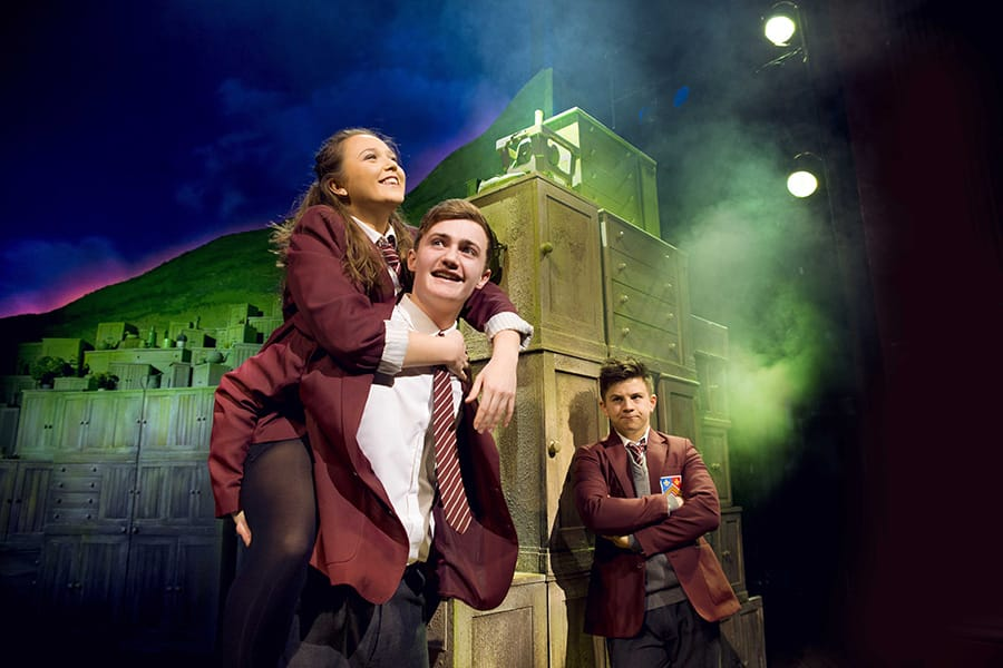 Chloe May Jackson as Jenny, Ben Hunter as Danny and Josh Benson as Tommo in The Girls (Photo: Matt Crockett, Dewynters)