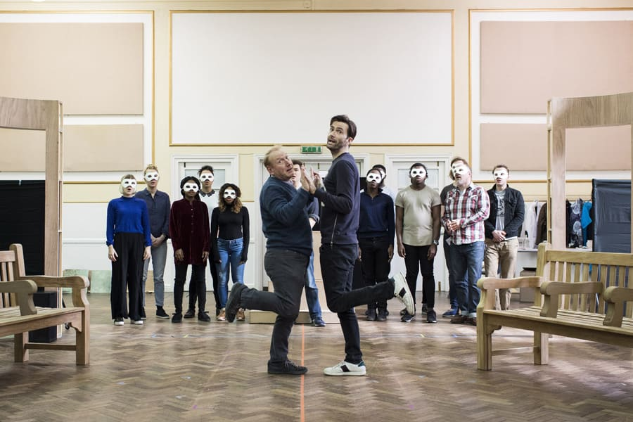 Cast in rehearsals for Don Juan In Soho (Photo: Helen Maybanks)