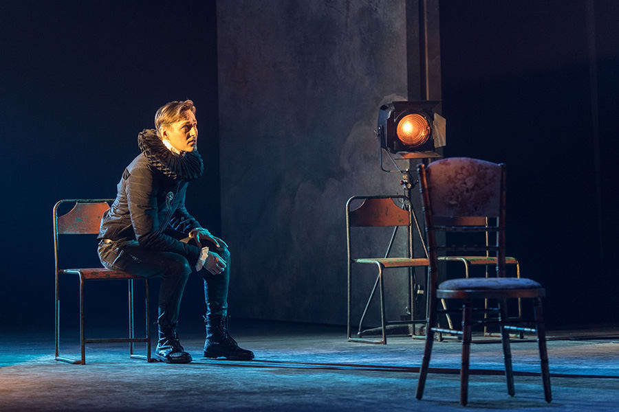 Luke Mullins (Hamlet) in Rosencrantz & Guildenstern Are Dead at The Old Vic (Photo: Manuel Harlan)