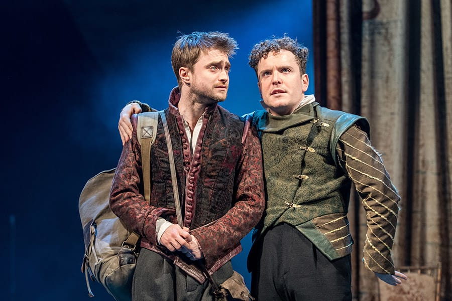Daniel Radcliffe (Rosencrantz) and Joshua McGuire (Guildenstern) in Rosencrantz & Guildenstern Are Dead (Photo: Manuel Harlan)