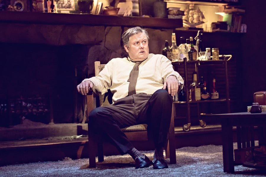 Conleth Hill in Edward Albee's Who's Afraid Of Virginia Woolf? (Photo: Johan Persson)