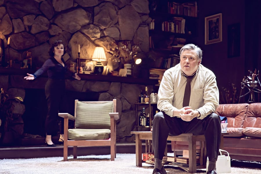 Imelda Staunton and Conleth Hill in Edward Albee's Who's Afraid Of Virginia Woolf? (Photo: Johan Persson)