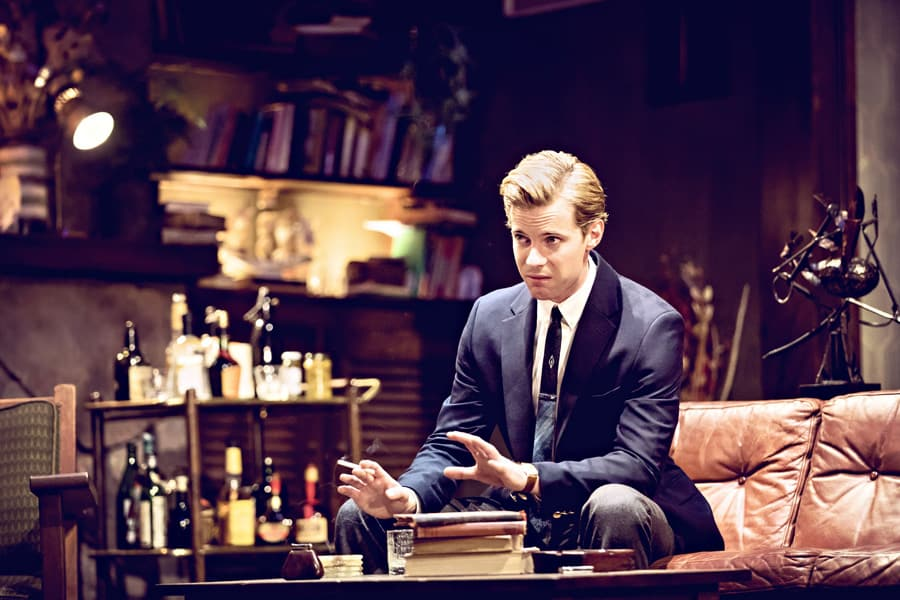 Luke Treadaway in Edward Albee's Who's Afraid Of Virginia Woolf? (Photo: Johan Persson)