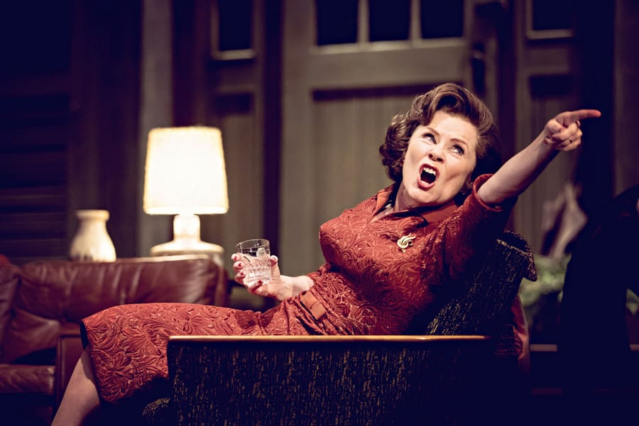 Imelda Staunton in Edward Albee's Who's Afraid Of Virginia Woolf? (Photo: Johan Persson)