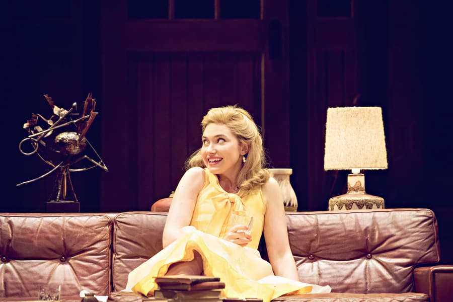 Imogen Poots in Edward Albee's Who's Afraid Of Virginia Woolf? (Photo: Johan Persson)