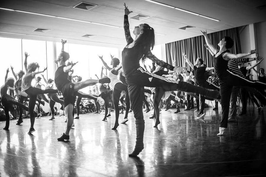 The Carousel company in rehearsal (Photo: Craig Sugden)