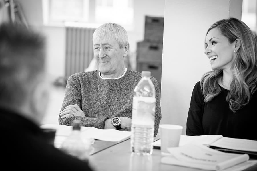 Nicholas Lyndhurst and Katherine Jenkins in rehearsal for Carousel (Photo: Craig Sugden)