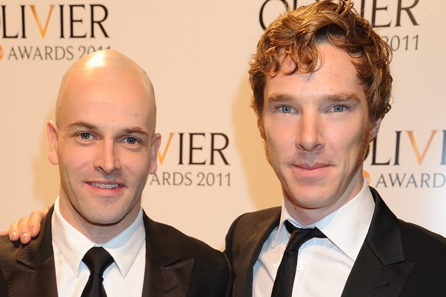 Jonny Lee Miller and Benedict Cumberbatch at the Olivier Awards 2011, Theatre Royal Drury Lane, London (Photo: Richard Young)