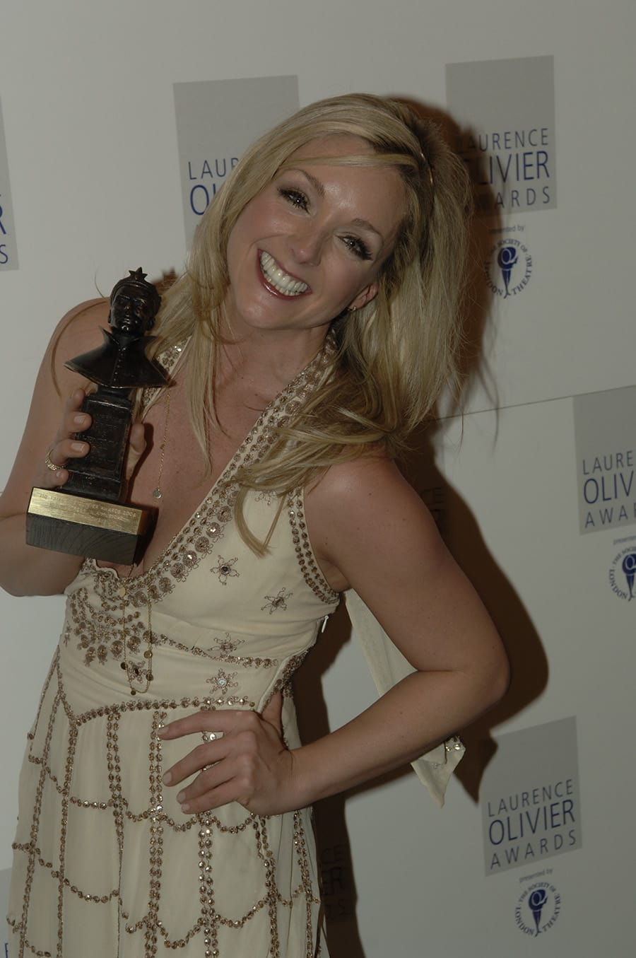 Jane Krakowski, winner of Best Actress in a Musical for Guys And Dolls at the Olivier Awards 2006
