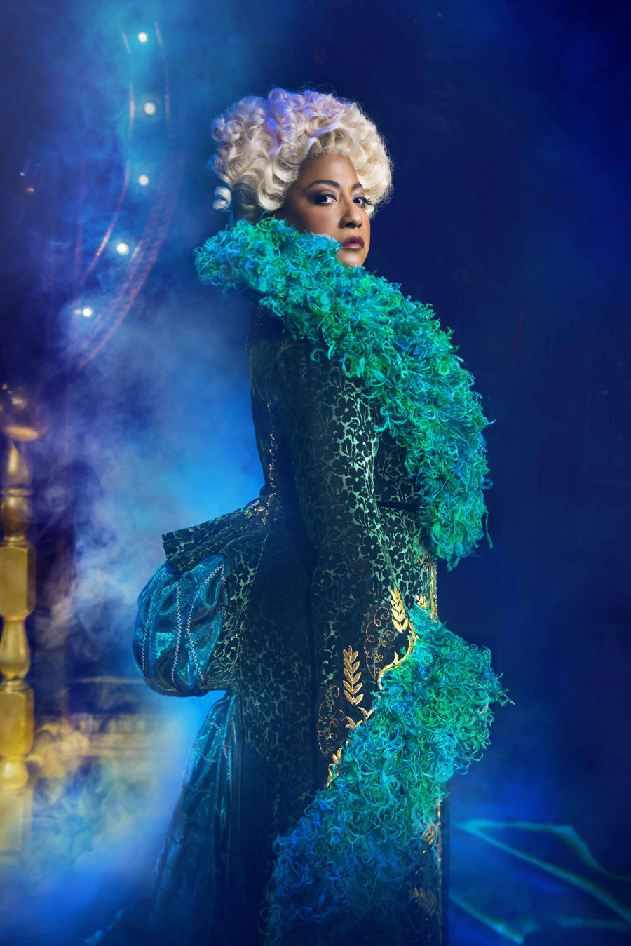 Melanie La Barrie (Madame Morrible) in Wicked at The Apollo Victoria Theatre (Photo: Matt Crockett)