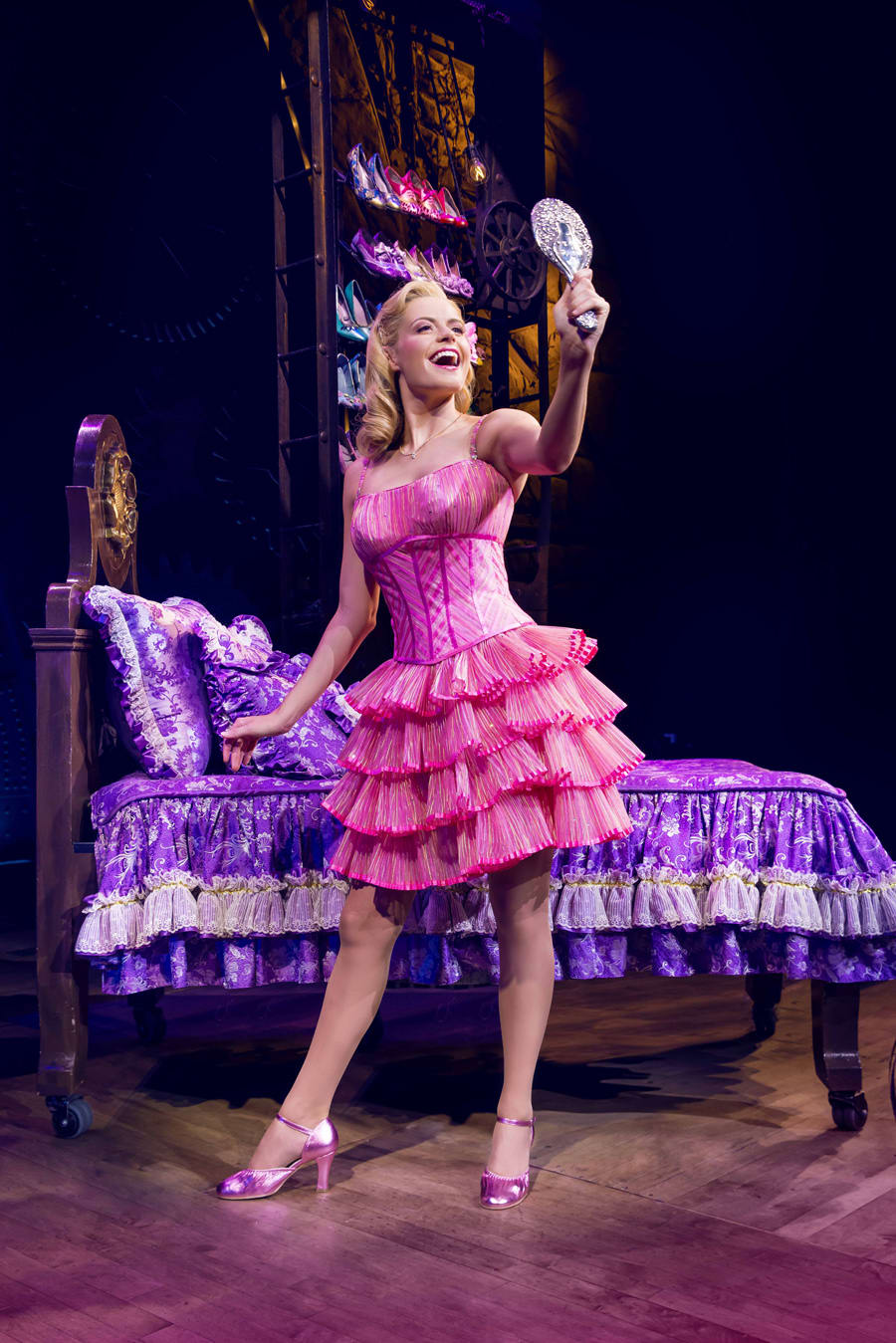 Sophie Evans (Glinda) in Wicked at The Apollo Victoria Theatre (Photo: Matt Crockett)