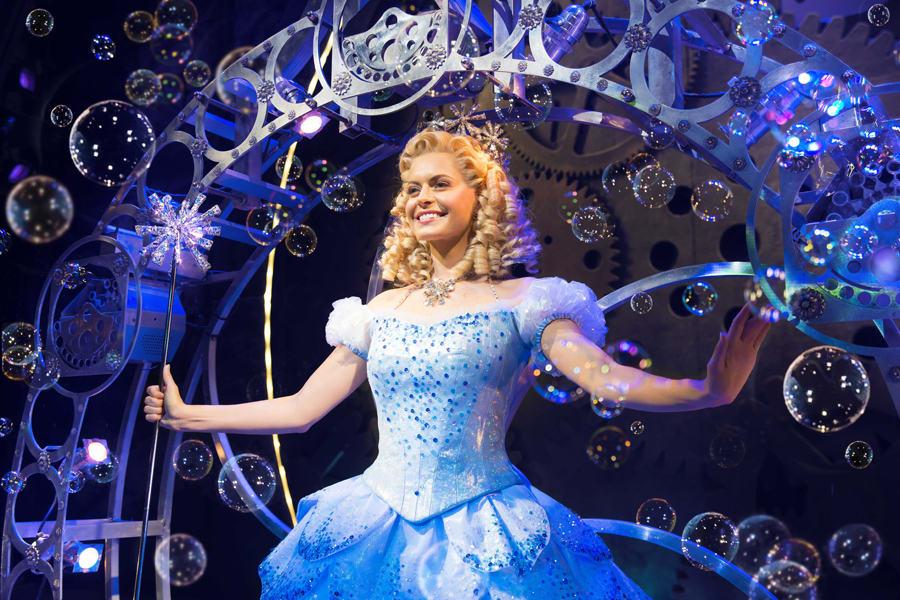 Sophie Evans (Glinda) in Wicked at The Apollo Victoria Theatre (Photo: Matt Crockett)