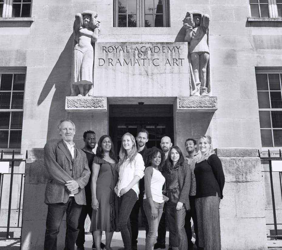 Nicholas Farrell, Ansu Kabia, Lolita Chakrabarti, Kathryn Wilder, Tom Hiddleston, Ayesha Antoine, Sean Foley, Caroline Martin, Irfan Shamji and Eleanor de Rohan at RADA