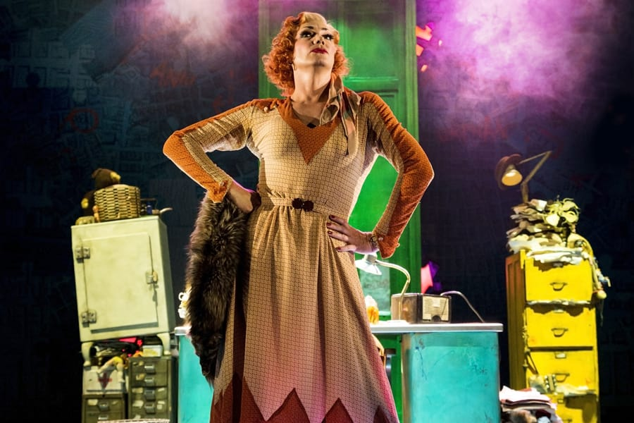 Craig Revel Horwood as Miss Hannigan in Annie (Photo: Matt Crockett)